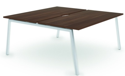 Noval Two Persom A Frame Bench Desk