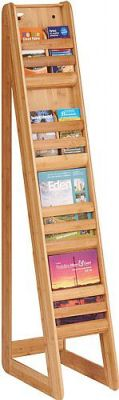 Bamboo Freestanding Literature Dispanser