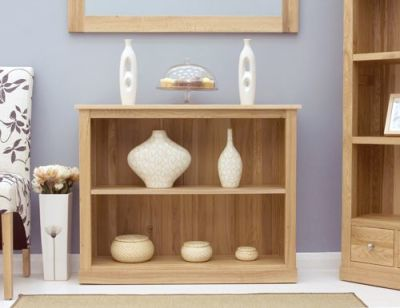 Warwick Solid Oak Low Bookcase 3