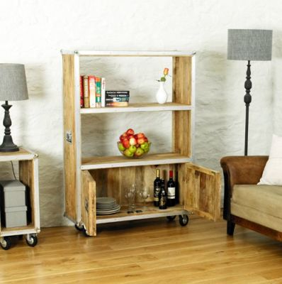 Roadie Large Bookcase With Doors 3