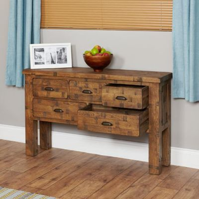 Hatfield Sawn Oak Consule Table 2