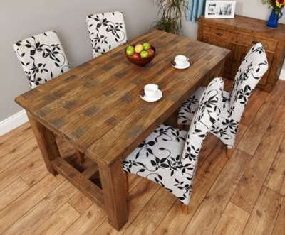 Warwick Rough Sawn Dining Table 1