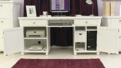 New England Double Pedestal Desk 3