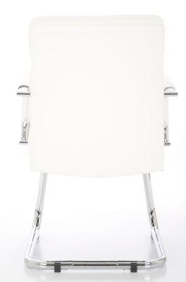 Evoque White Leather Visitors Chair