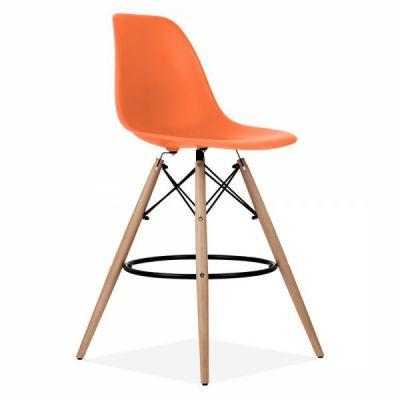 DSW Stool Orange Seat 1