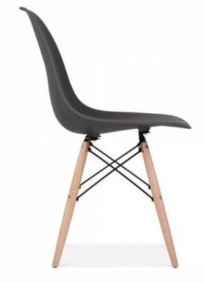 Eames Inspired DSW In Black Side Angle