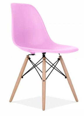 Eames Inspired DSW Chair In LIlac Front Angle
