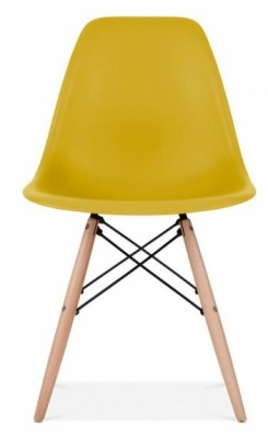 Eames Inspired DSW Chair Olive Green Seat Front Face