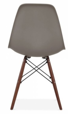 Eames Inspired Dsw Chair Dark Grey With Walnut Legs Rear View
