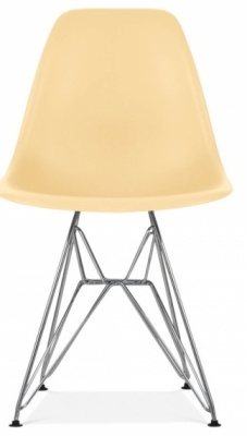 Eames DSR Chair Cream Seat Front Face