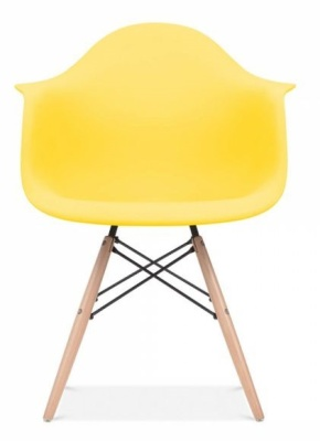 Eames Inspired DAW Chair Front Shot Lemon Seat