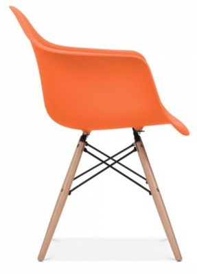 Eames Inspired DAW Chair Orange Seat Side Shot