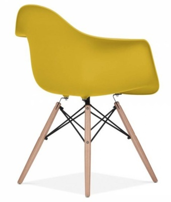 Eames Inspired DAW Chair Olive Green Seat Rear Angle