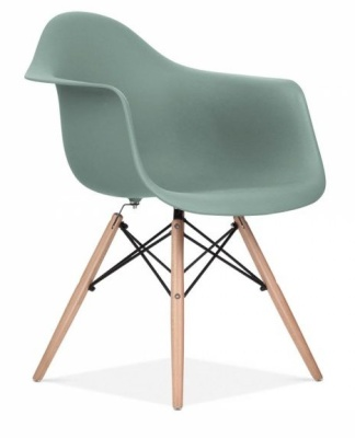 Eames Inspired DAW Chair Silver Grey Seat Front Angle