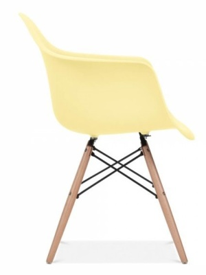 Eames Inspired DAW Chair With A Lemon Seat Side View