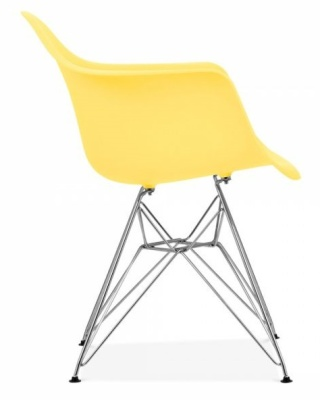 Eames Inspired DAR Chjair With Al Emon Seat Vside Angle