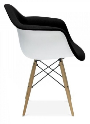 Eames DAW Insired Upholstered Chair Side View
