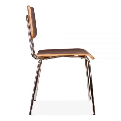 Costas Designer Walnut Chair Side View