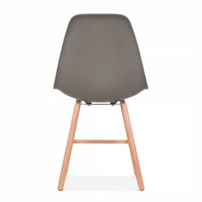 Eames Inspired DSW Chair With A Warm Grey Seat And Oxford Legs Rear Shot