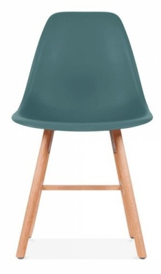 Eames Inspired DSW Chaitr With A Teal Seat And Oxford Legs Rear View