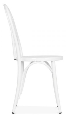 THonet Retro White Bentwood Chair