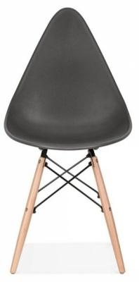 Scalena Designer Chair With A Dark Greyu Seat Front Shot