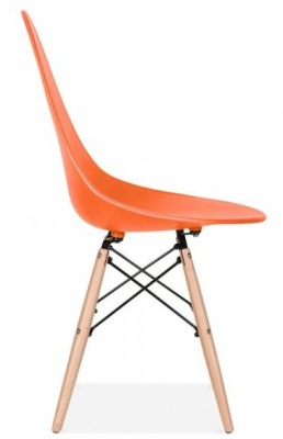 Scalena Hdesigner Chair With An Orange Seat Side View