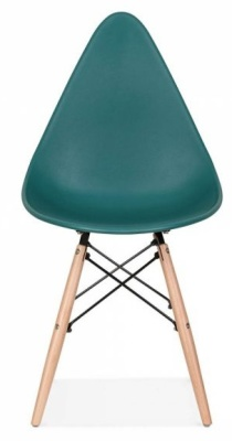 Scalena Designer Chair With A Teal Seat Front View
