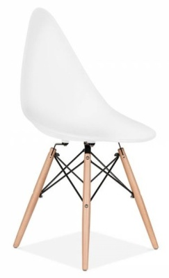 Scalena Designer Chair With A White Seat Front Angle