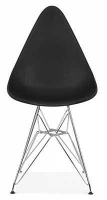 Cadiz Designer Poly Chair With A Black Seat Front View