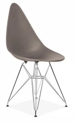 Cadiz Designer Conference Chair With A Warm Grey Seat Front Angle
