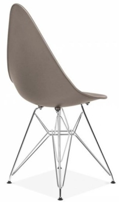 Cadiz Designer Chair With A Warm Grey Seat Trear Angle