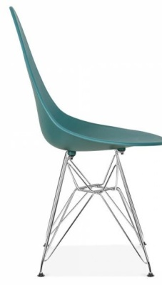 Cadiz Designer Chair With A Teal Chair Side View