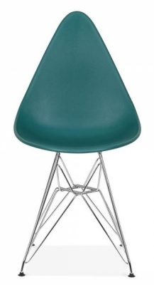 Cadiz Designer Chair With A Teal Seat Front Shot