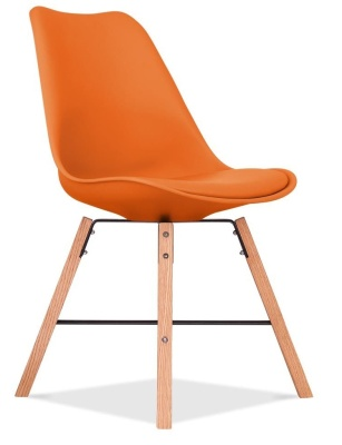 Cross Town Chair With An Orange Seat Front Angle