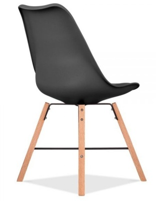 Crosstown Chair With A Black Seat Rear Angle
