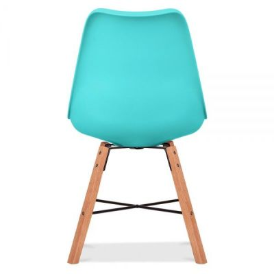 Crosstown Chair With A Turquoise Seat Rear View