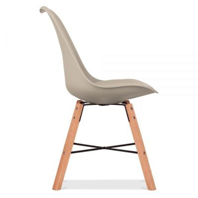 Crosstown Chair Wit A Warm Beige Seat Side Angle