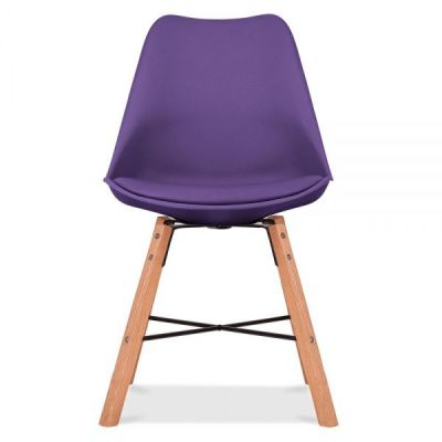 Crosstown Chair Wit A Purple Seat Front Shot