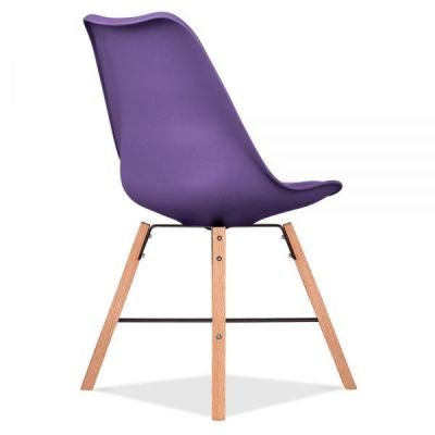 Crosstown Chair Wit A Purple Seat Rear Angle