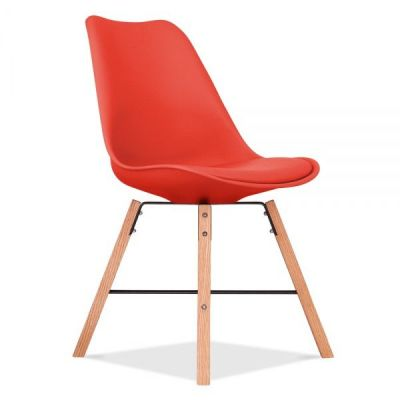 Crosstown Chair Wit A Red Seat Front Angle