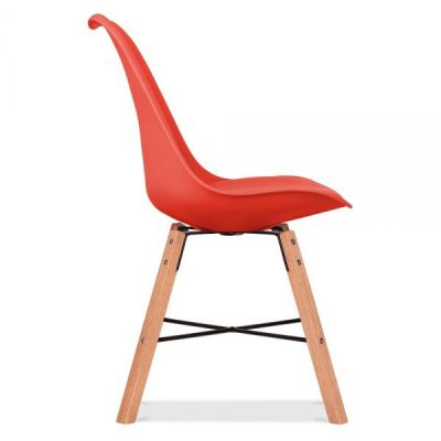 Crosstown Chair Wit A Red Seat Side Angle