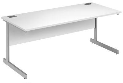 Abacus Rectangular Desk In White