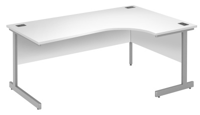 Abacus Right Hand Corner Desk In White