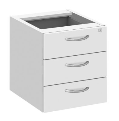 Abacus Fixed Drawers In White