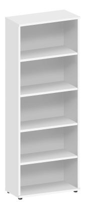 Abacus Tall Bookcase In White