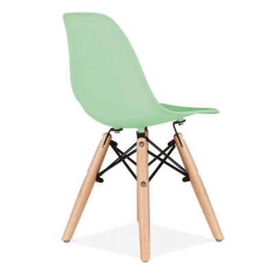 Eames Inspired Junior Dsw Chair With A Peppermint Seat Rear Angle