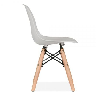 Eames Inspired Junior Dsw Chair With A Grey Seat Sixde Angle