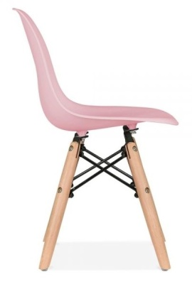 Eames Inspired DSW Chair With A Pink Seat Side View