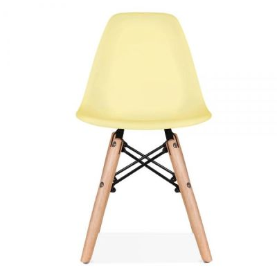 Eames Inspired Junior Chair With A Yellow Seat Front Shot